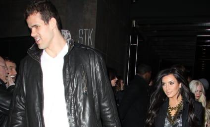 """Kim Kardashian Enjoys """"Yummy"""" Dinner with Kris Humphries, Family"""