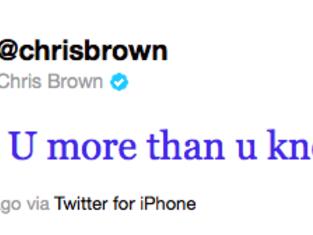 Chris Tweet @ Rihanna