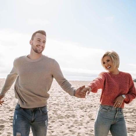 Savannah Chrisley and Nic Kerdiles at the Beach