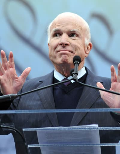 John McCain at the Mic