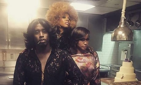 June Ambrose, Diddy & Cassie At Beyonce's 35th Birthday Bash