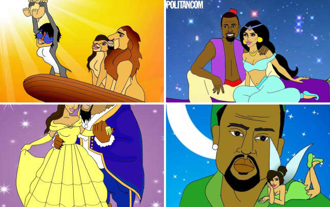 Kim and kanye in the lion king