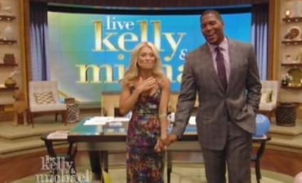 Michael Strahan Debuts as Kelly Ripa Co-Host on Live!