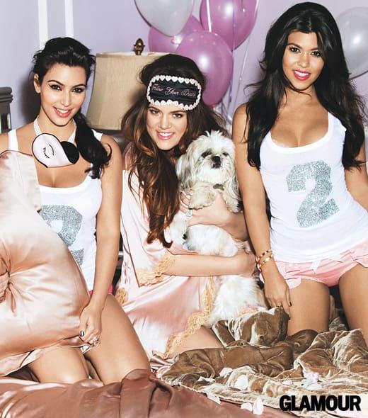 Kim, Kourtney and Khloe Kardashian for Glamour