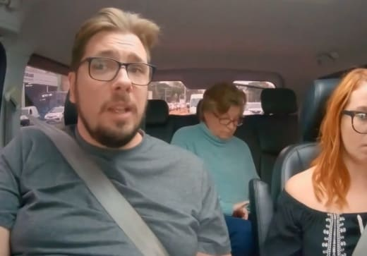 Colt Johnson tries to sound reasonable in the car