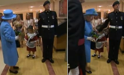 Little Girl Meets Queen, Get Smacked in Face by Soldier