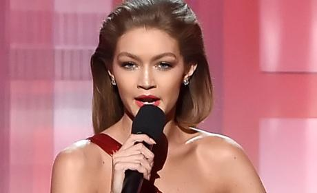 Gigi Hadid as Melania Trump at the American Music Awards Photo