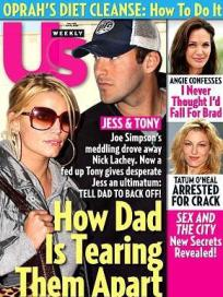 Jessica Simpson and Tony Romo Cover
