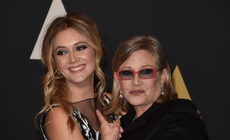 Billie Lourd and Carrie Fisher Together