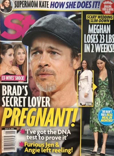 Brad Pitt Tabloid Cover Story