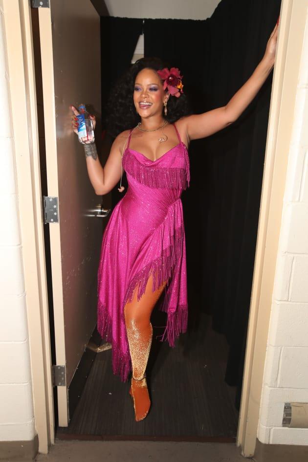 Rihanna Posing at Grammys