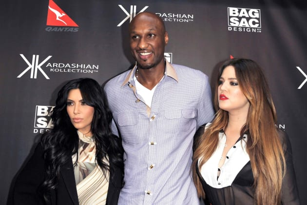 Lamar with Kim and Khloe