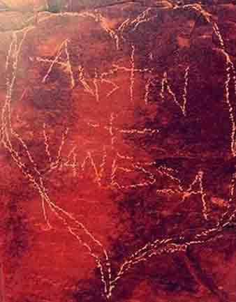 Vanessa Hudgens and Austin Butler name carving in Sedona