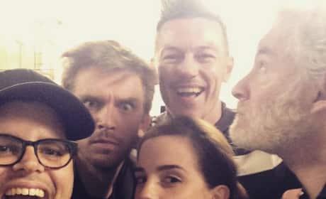 Beauty and the Beast Cast Selfie
