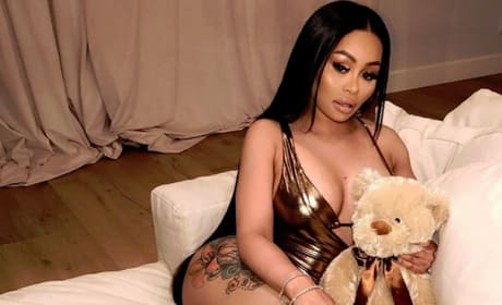 Blac Chyna Curls Up With a Bear