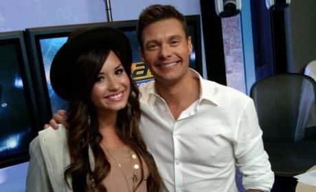 Demi Lovato and Ryan Seacrest