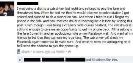 Jilted Cab Driver