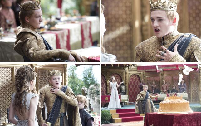 King joffrey purple wedding photo