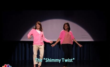 Michelle Obama Takes Part in Evolution of Mom Dancing Part 2