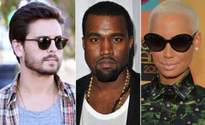 Kanye West on Scott Disick Hollering at Amber Rose: U Kidding Me Bruh?!