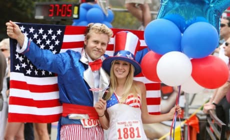 Spencer and Heidi on July 4