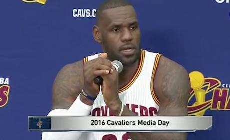 LeBron James Press Conference