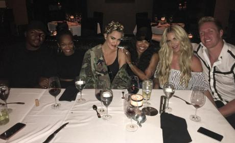 Kim Zolciak Khloe Kardashian Dinner