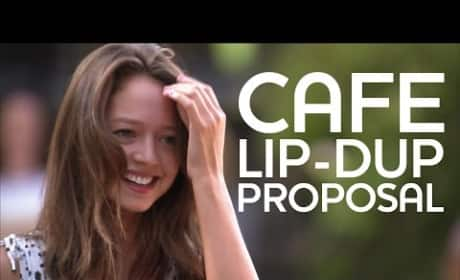 Cafe Lip-Dub Proposal Wins Internet Forever