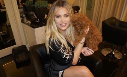 Khloe Kardashian Models Fishnets While Pregnant!