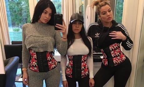 Kylie, Kourtney and Khloe Waist Training