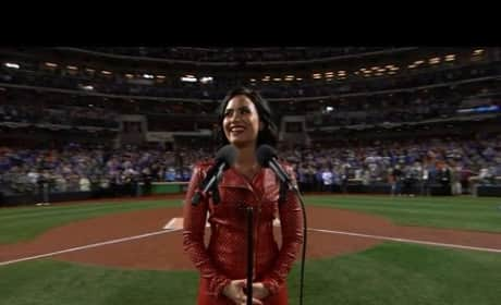Demi Lovato Hits Home Run with World Series National Anthem