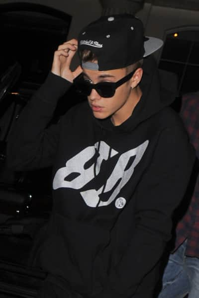 Justin Bieber at Night