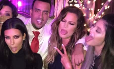 Kim Kardashian, Kylie Jenner and French Montana
