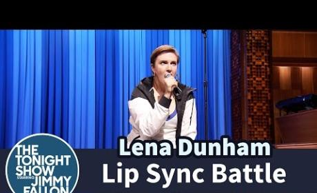 Lena Dunham Lip Sync Battles Against Jimmy Fallon