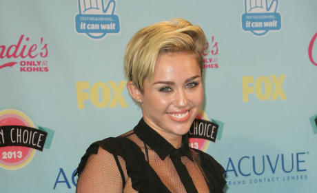 Miley Cyrus in Leather