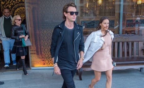 Jonathan Cheban and girlfriend Anat Popovsky in Israel