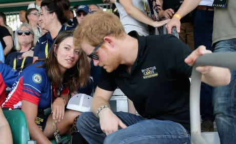 Prince Harry Chats With Sgt. Elizabeth Marks