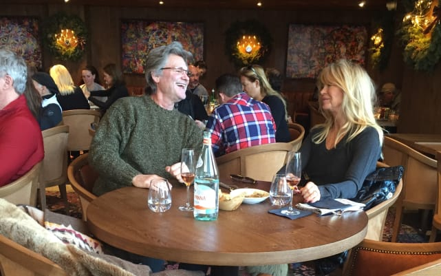 Goldie Hawn and Kurt Russell Have Lunch in Aspen