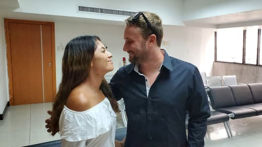 Corey Rathgeber et Evelin Villegas comme mari et femme