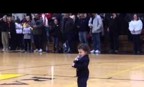 Toddler Nails the National Anthem