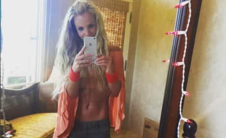 Britney Spears in crop top