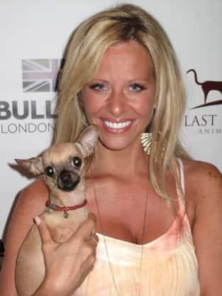 Dina Manzo and Dog