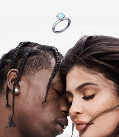 Kylie Jenner-Travis Scott Engagement Pic