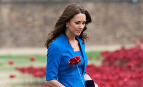 Kate Middleton in a Blue Dress