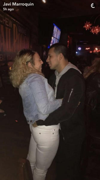 Javi Marroquin and Cassie Bucka Near Kiss Photo