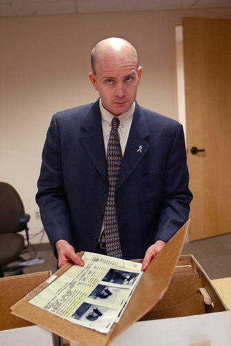Shirtless FBI Agent Frederick Humphries