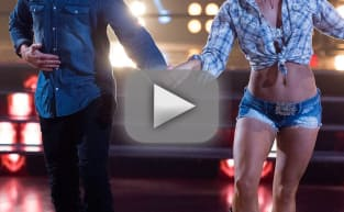 Sharna Burgess Removes Bonner Bolton's Hand From Crotch on DWTS