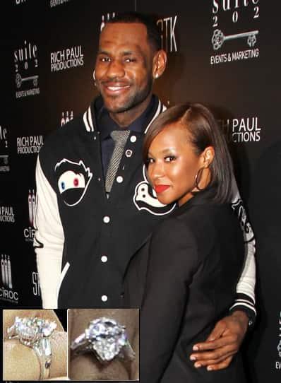 LeBron James, Engagement Ring