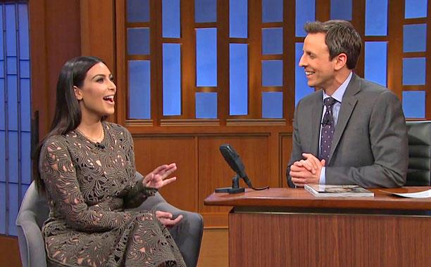 Kim on Late Night