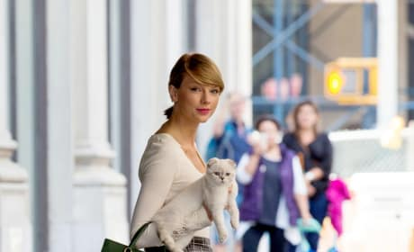 Taylor Swift and Cat
